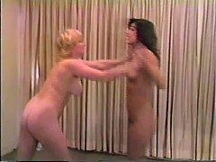 Cal Supreme Roni vs Blondie erotic wrestling