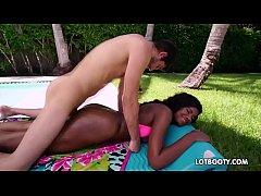 Gorgeous round butt black teen Payton Sweet