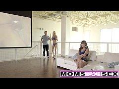 MomsTeachSex - Fucking My Big Tit Step Mom & Sis