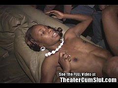 Hot & Sexy Jayden Tin's Ebony Tits Covered in Cum