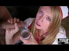 Naughty nurse handjob