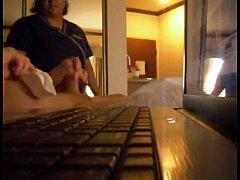 Maid Watches Him Cum - 923camsexp.com