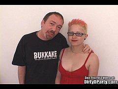Underground Punk Slut Fucks Cock and Toy