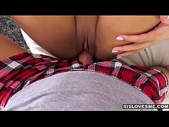 SisLovesMe - Cute Step-Sis Surprised With Broth...