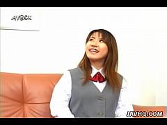 Japanese school girl Ami Matsuda blowjob and fa...