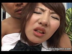 Horny japanese teen fucking and sucking