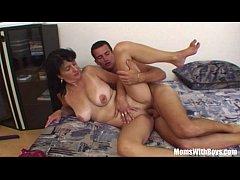 Son Gets Ridden By Horny Brunette Stepmom