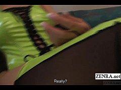Subtitled POV Japanese foot fetish high heeled ...