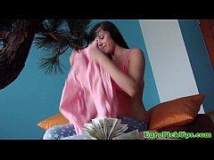 Euro girlnextdoor getting nude for cash