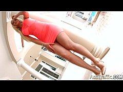 Super hot blondie Melanie Gold gets anal on Ass Traffic
