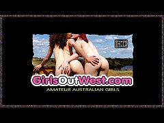 Hot Australian lesbians bathroom toy fuck