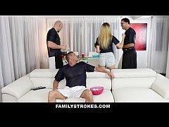 FamilyStrokes - Teens Fucks Pervy Uncle During ...