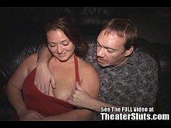 Wild stripper Melissa fucks a theater full of s...
