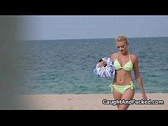 Bigtit bikini caught and fucked on video