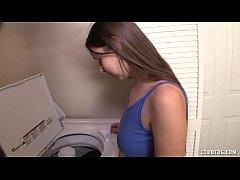 Topless Teen Jerks Off Her Boyfriend