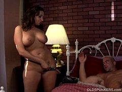 Beautiful busty mature brunette enjoys a sticky...
