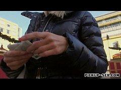 Amateur blonde Czech girl Adrienne creampied for money