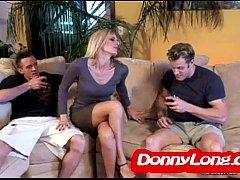 Donny Long breaks skinny milf asshole and DP he...