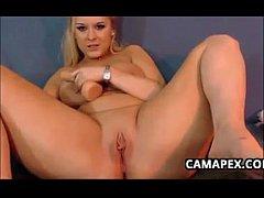 Chubby Blonde Cam Slut Masturbates