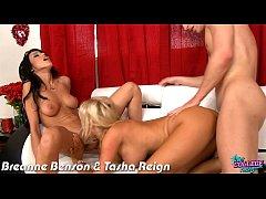 College cuties Breanne Benson and Tasha Reign f...