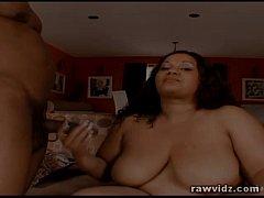 Mz Buttaworth BBW Ebony Takes Black Schlong