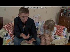 Hot blonde in amateur anal sex movie scene 1