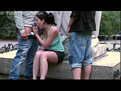 Cute teenage girl fucking on a PUBLIC street by...
