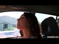Redhead Kassondra Raine gives carblowjob and fu...