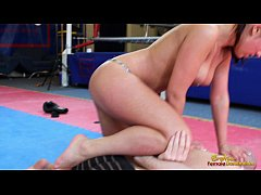 Angel  Rivas beating loser through the gym in b...