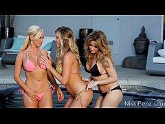 Nikki Benz Gets It On With Babes Angela & Saman...