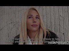 Sexy Czech girl Kyra Hot banged by stranger for...