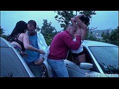 Pregnant girl and her 2 boyfriends in PUBLIC vi...