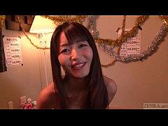 Subtitled Japanese AV star Marica Hase blowjob ...