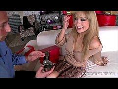 Euro blonde babe has gorgeous feet