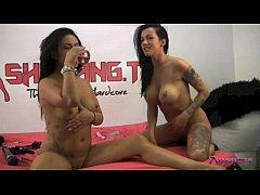 Two sexy lesbians enjoying a hot juicy pussy fest