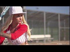 Baseball Loving Blonde Stevie Shae Loves An Aft...