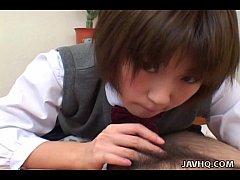 Shinobu Kasagi school time blowjob