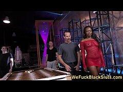 Bukkaked black ho banged