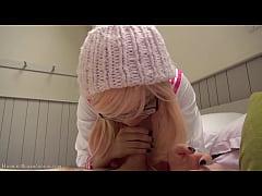 Pink Japanese schoolgirl cosplay BJ