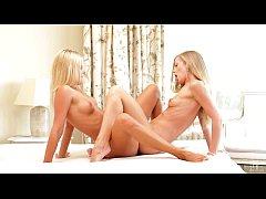 Hot blonde lesbians scissoring