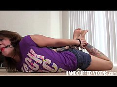I am totally helpless while handcuffed JOI