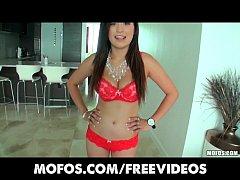 Cute Latina babe with perfect natural tits make...