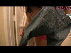 Ineed2pee girls wetting panties jeans pants beh...