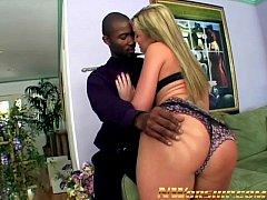 hot blonde slutty teen anal interracial threeso...