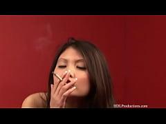 Lily - Smoking Fetish at Dragginladies