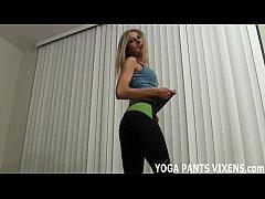 I love my hot new yoga pants JOI