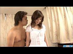 Sensual shower along sexy Japanese Moe Yoshikawa