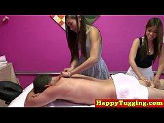 Asian handjob masseuse on spycam