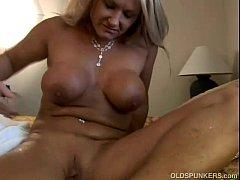 Ravishing mature blonde Roxy loves to fuck youn...