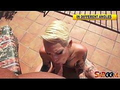 Silvia Rubi hot tattoed slut at Saboom